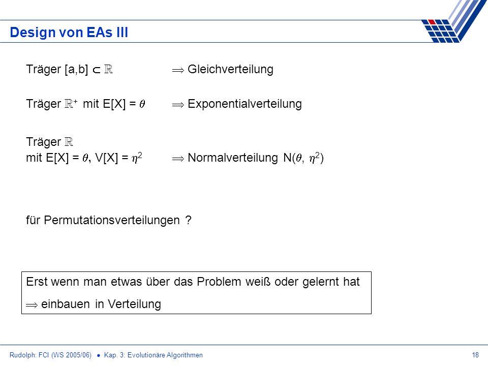 Design von EAs III Träger [a,b]  R  Gleichverteilung